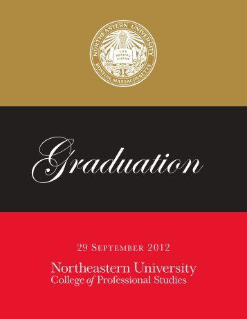 graduation program - Northeastern University College of - graduation program