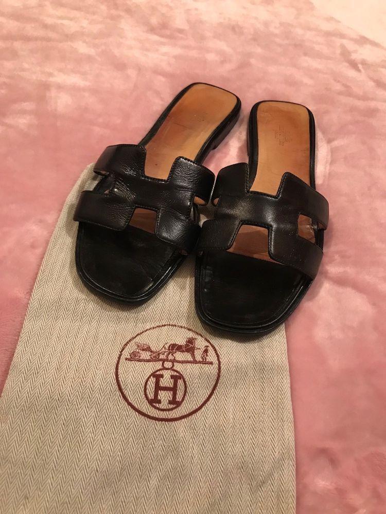 Hermes Oran Sandals - Black Sz 42
