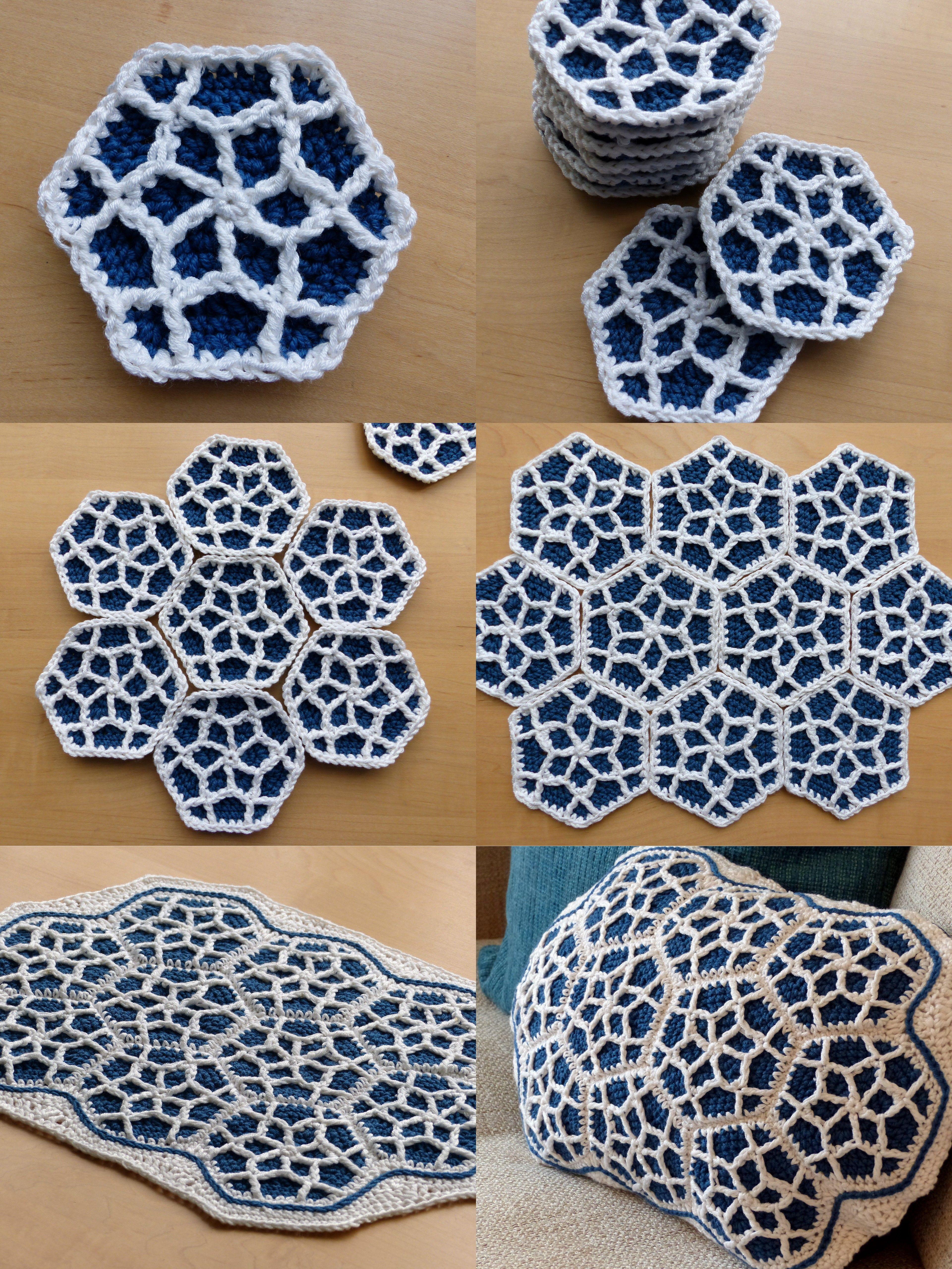 Moroccan Hexagon Motif Free Crochet Pattern T Patrn De Flower Motivos Hexagonales Pinterest Blocking And Making Up By Make My Day Creative