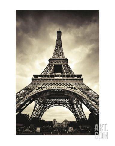 Eiffel Tower Art Print by Marcin Stawiarz at Art.com