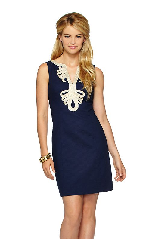 081d27044094 Janice Shift Dress - navy   gold