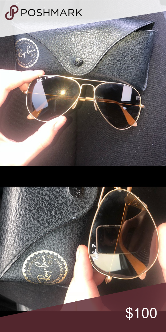c01c8841da786 RayBan aviator classic Gold Brown Ray Ban Aviator Classic Gold Brown  Polarized Very good condition