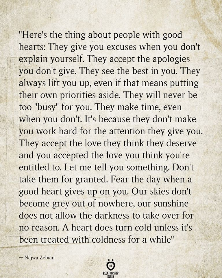 """""""HERE'S THE THING ABOUT PEOPLE WITH GOOD HEARTS"""
