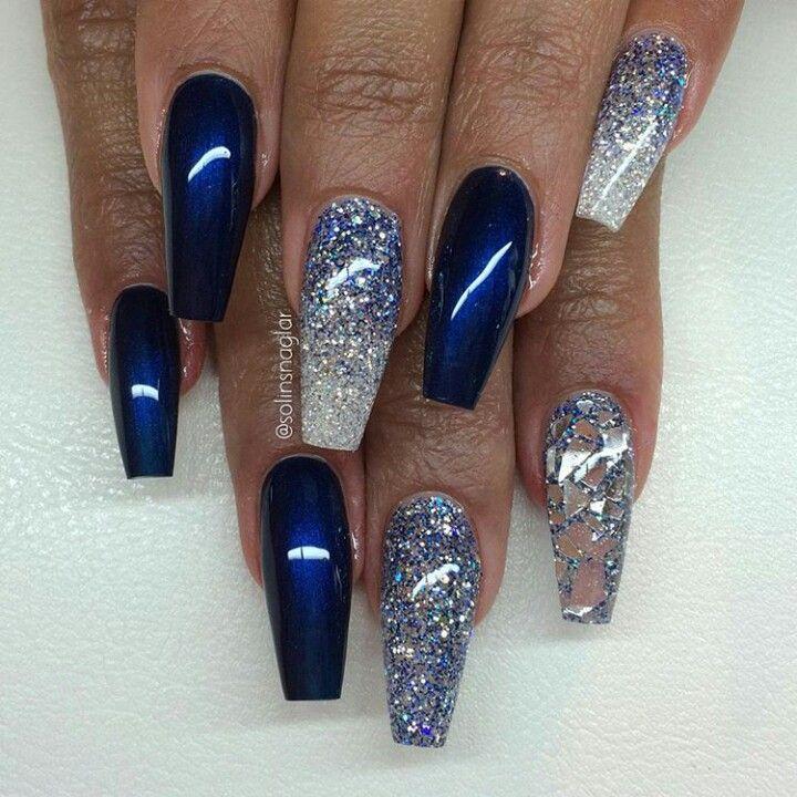 Nail Art Midnight Blue: Chrome Nails Designs Blue