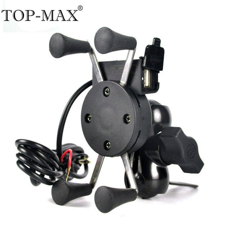 Top Max Universal 360 Rotating Motorcycle Bike X Grip Mount Smart