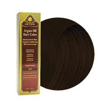 One N Only Argan Oil Hair Color 5ch Light Chocolate Brown Argan Oil Hair Color Hair Color Cream Hair Color Chocolate