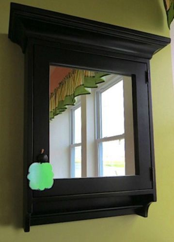 MEDICINE CABINET w SHAVING MIRROR and CROWN MOLDING Amish Crafted ...