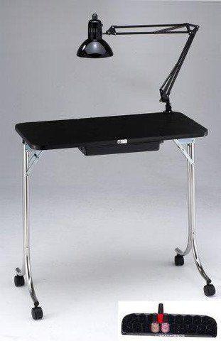 Kayline 401 Portable Mini Nail Table Manicure Black Free Pd1 Polish Tray By