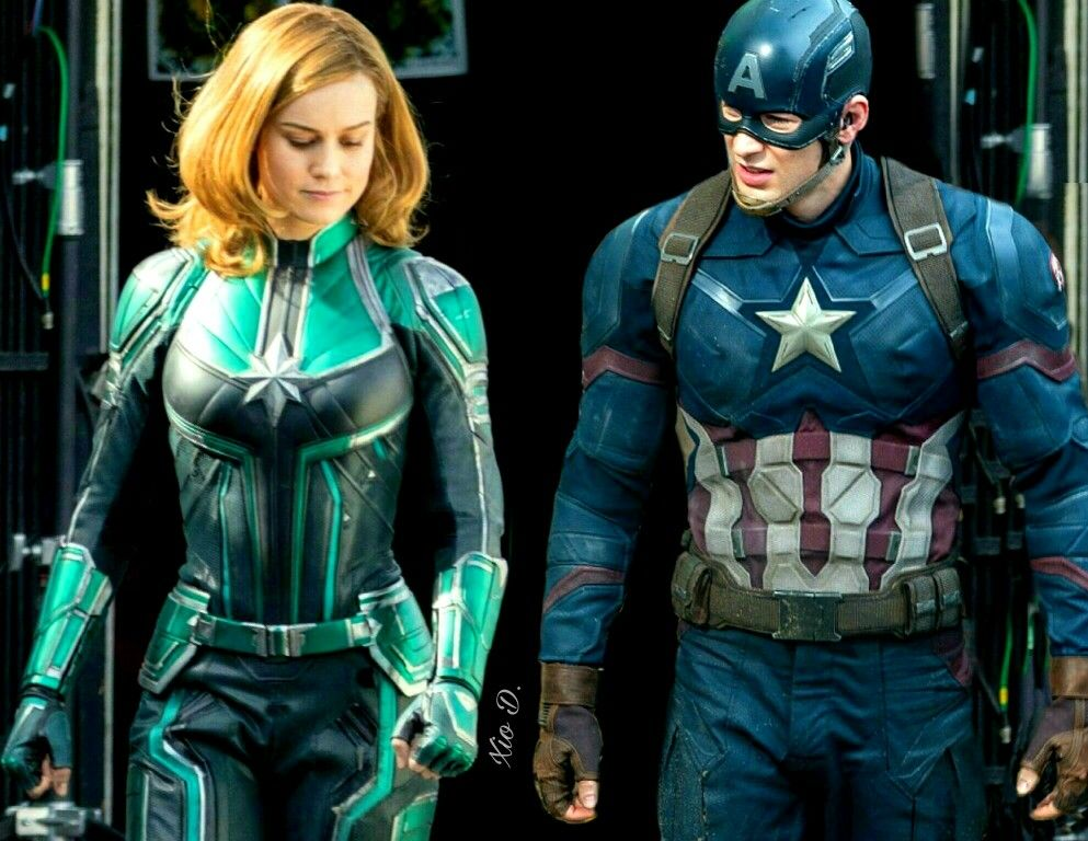 d8ff54b1a85 Captain Marvel   Captain America  Carol Danvers  Steve Rogers  Brie Larson   Chris Evans