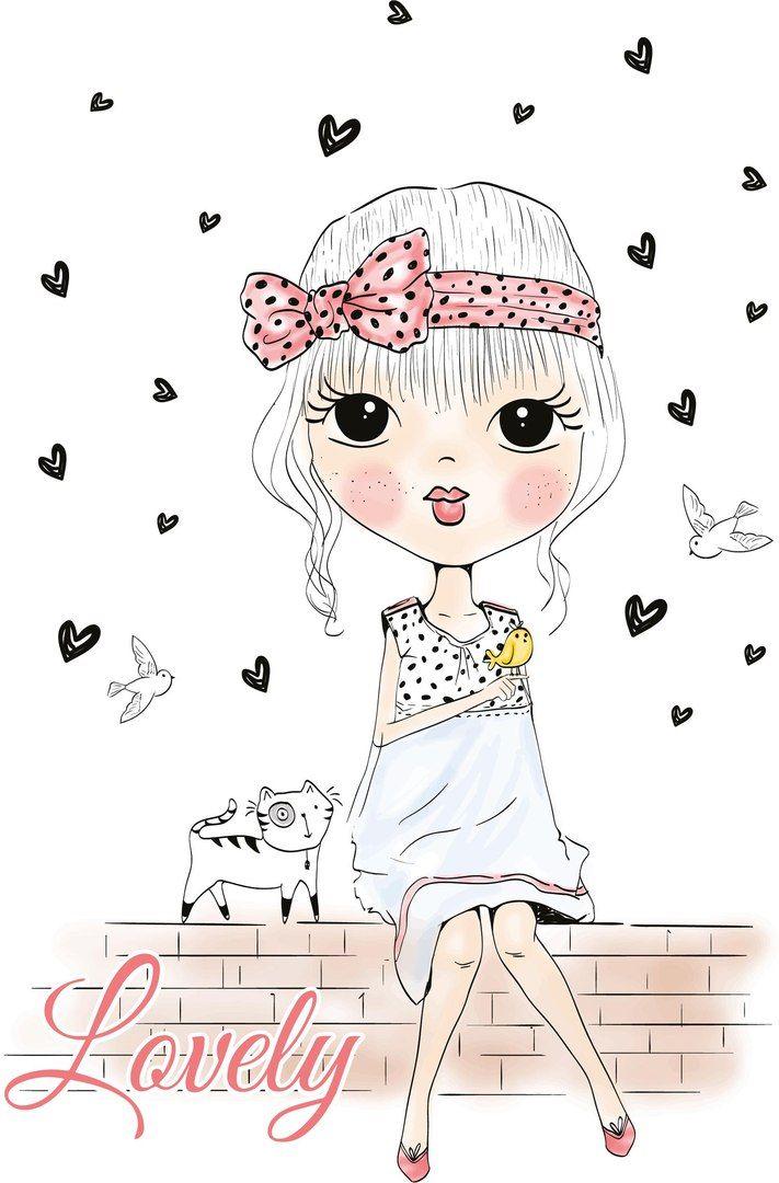 Картинки для скрапбукинга девушки, создаются открытки