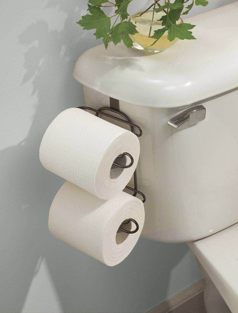 Toilet Paper Roll Holder Bathroom Storage Tissue Rack Over the Tank ...