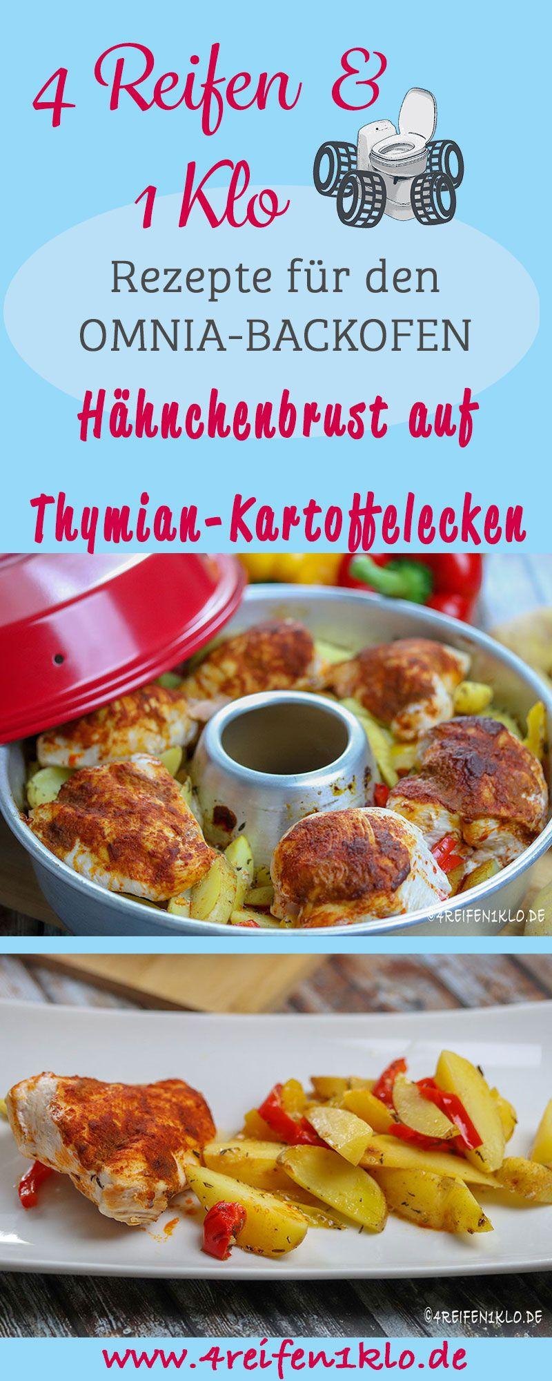 Hähnchenbrust auf Thymian-Kartoffelecken  #kartoffeleckenbackofen