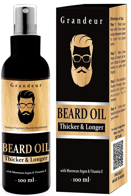 GRANDEUR MOOCH AND BEARD OIL FOR MEN - FULL REVIEW | Best beard oil, Beard  oil, Best beard growth oil