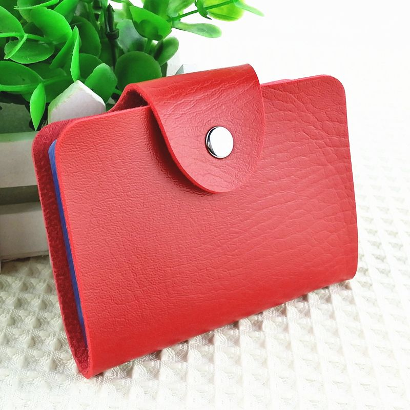Korea Fashion Business Credit Card Holder Bags Leather Strap Buckle ...