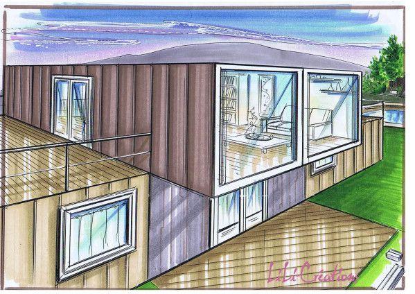 container house 29 copies shipping containers Pinterest House - plan maison en forme de u