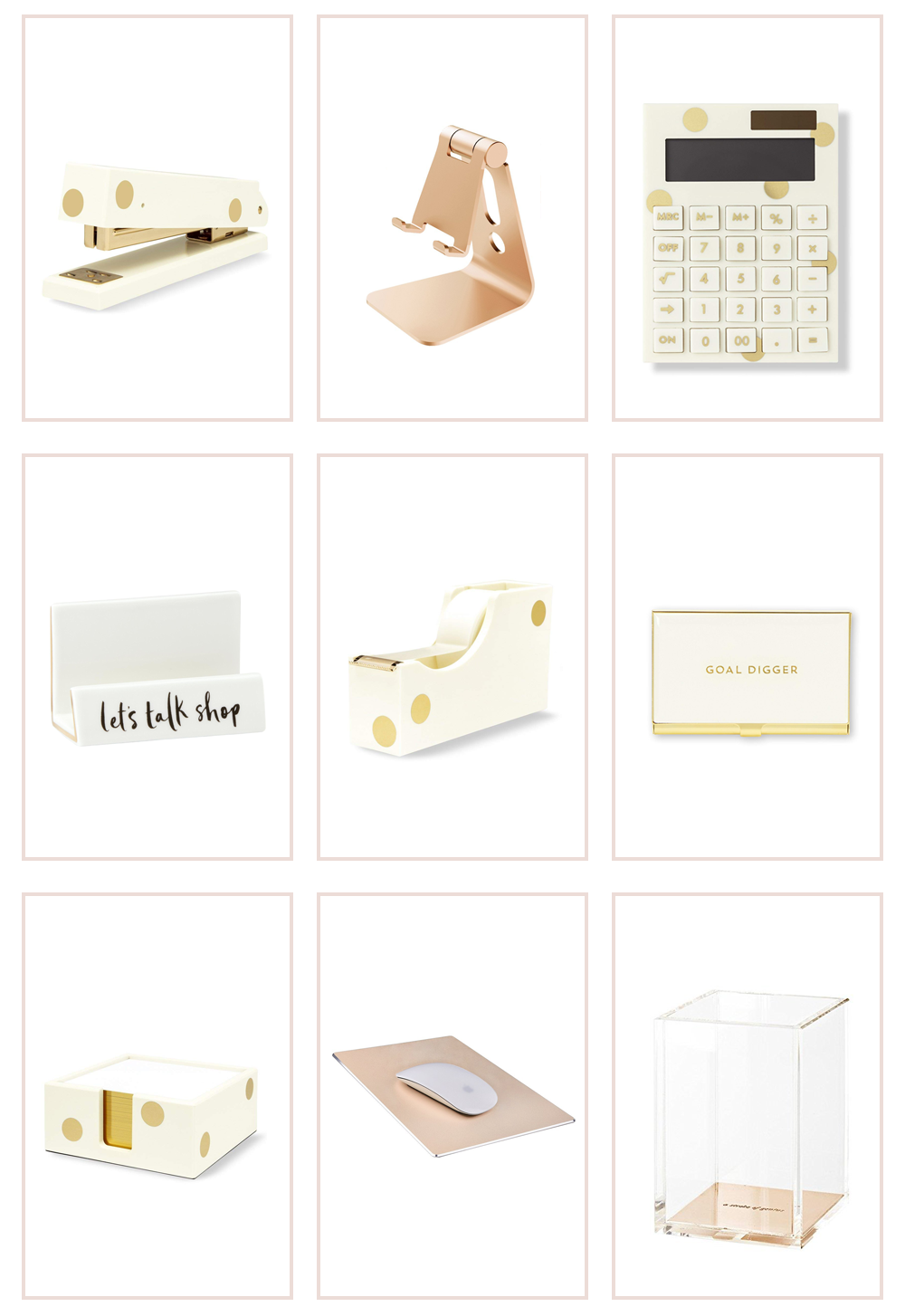 The Prettiest Accessories For Your Office Teresa Caruso Desk Organization Diy Desk Accessories Office Desk Organization