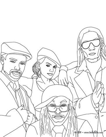 The Black Eyed Peas Coloring Sheet More Black Eyed Peas Coloring