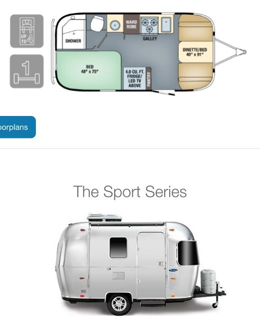 2019 Airstream Sport Airstream Sport Small Camper Trailers