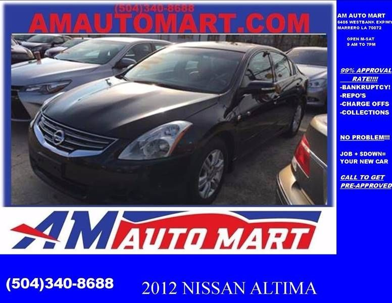 This 2012 Nissan Altima 2 5 Is Listed On Carsforsale Com In Marrero La This Vehicle Includes Exhaust Dual Tip Door Handle Colo Nissan Altima Altima Nissan