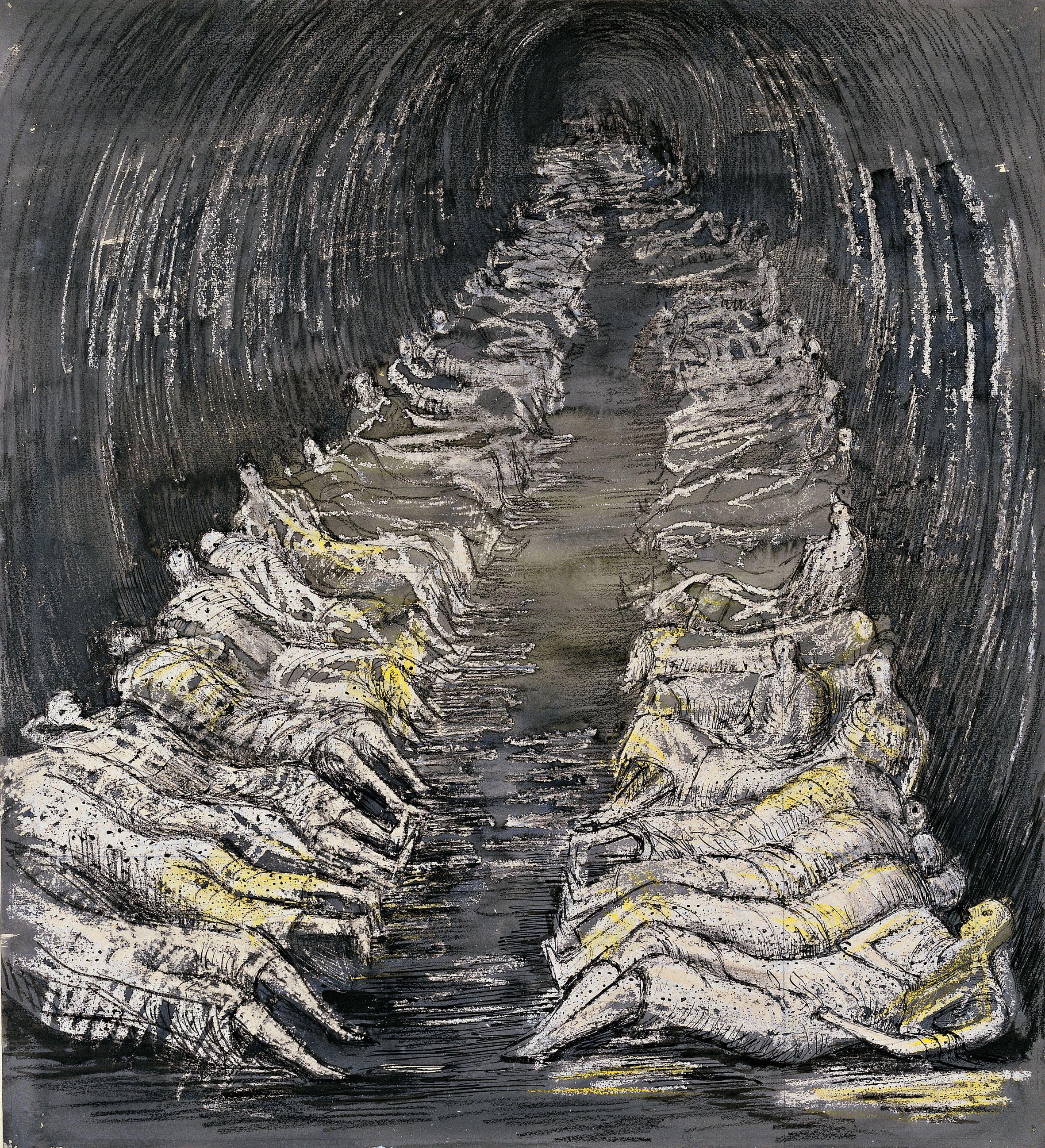 Henry Moore Underground Drawings