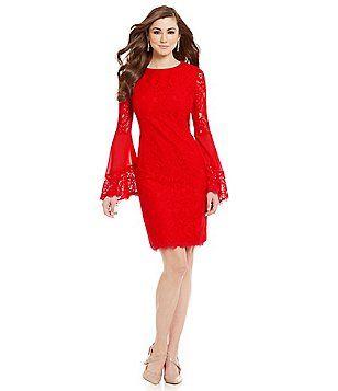 Antonio Melani Dakota Lace Bell Sleeve Dress the bell sleeves ...