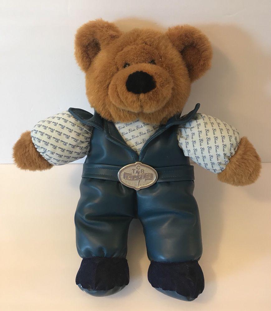 1994 Elvis Presley 1956 Blue Suede Shoes Teddy Bear 14 ... |Elvis Presley Stuff Animal