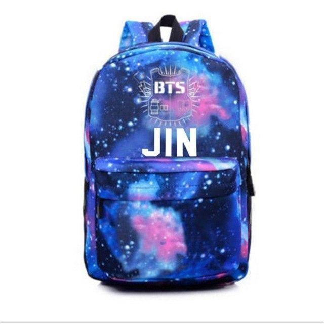 BTS Galaxy Backpack | Bts bag, Blue backpack, Galaxy backpack