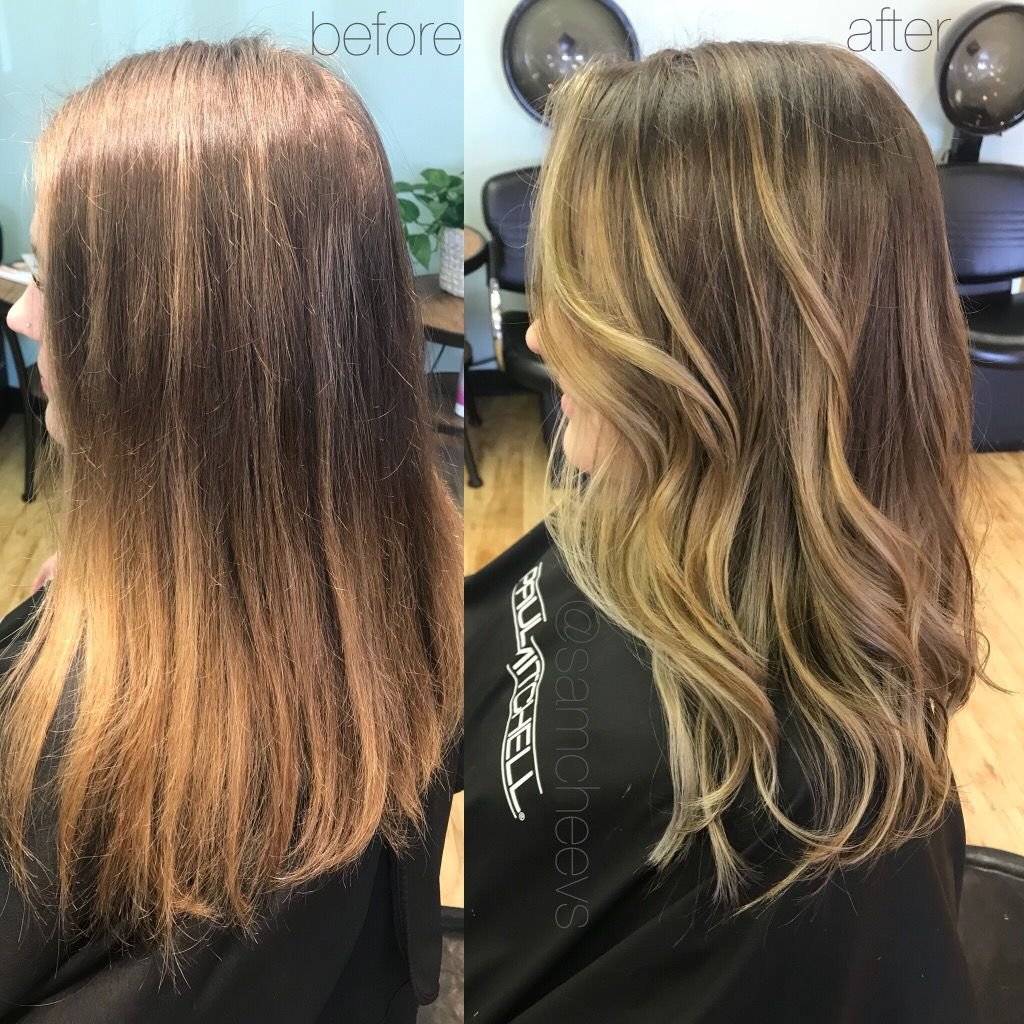 From Rooted Grown Out Subtle Highlights To A Subtly Obvious Blonde Balayage For Dirty And