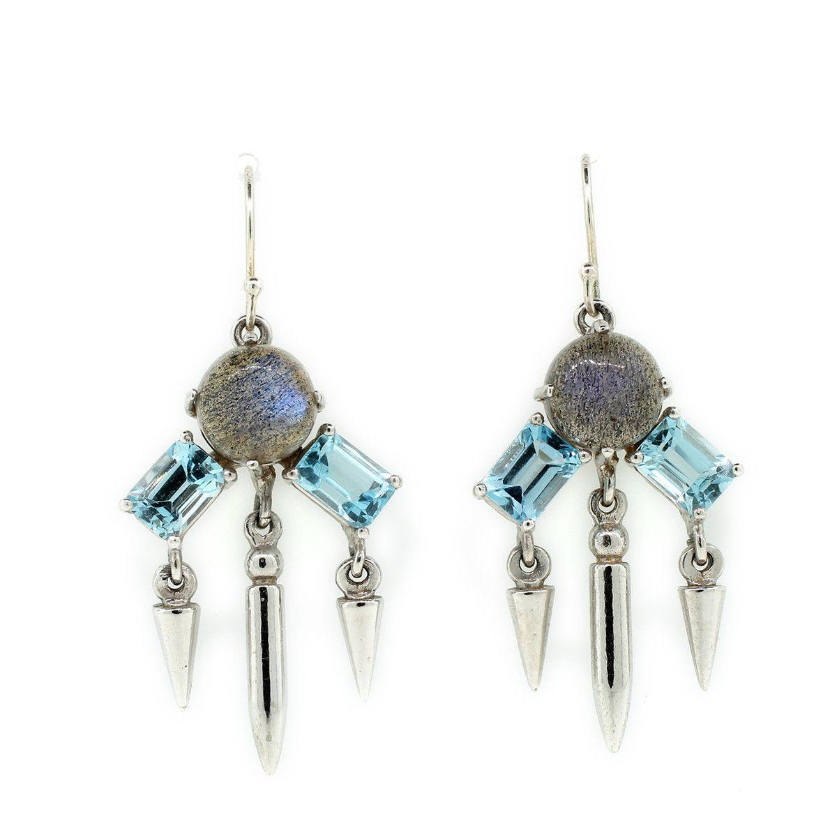 Fab.com | Topaz & Labradorite Earrings