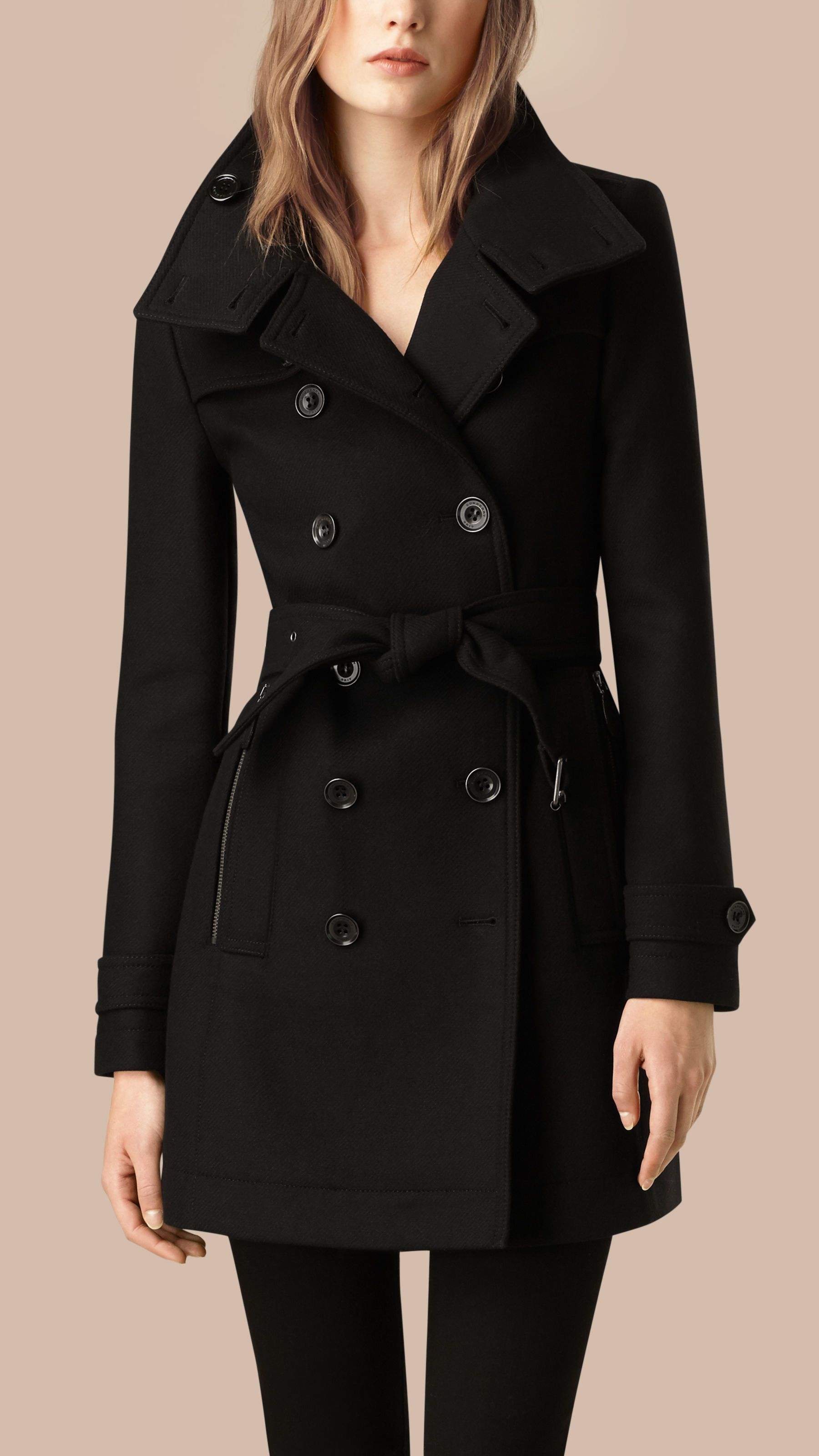 cf6a852b4 Women's Clothing in 2019 | Coats | Black dress coat, Burberry trench ...