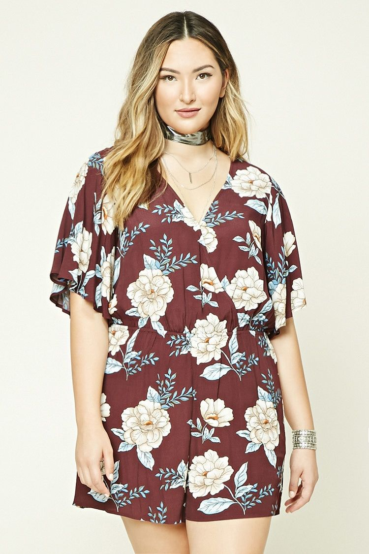 1fb003813df Forever 21+ - A woven romper featuring an allover floral print