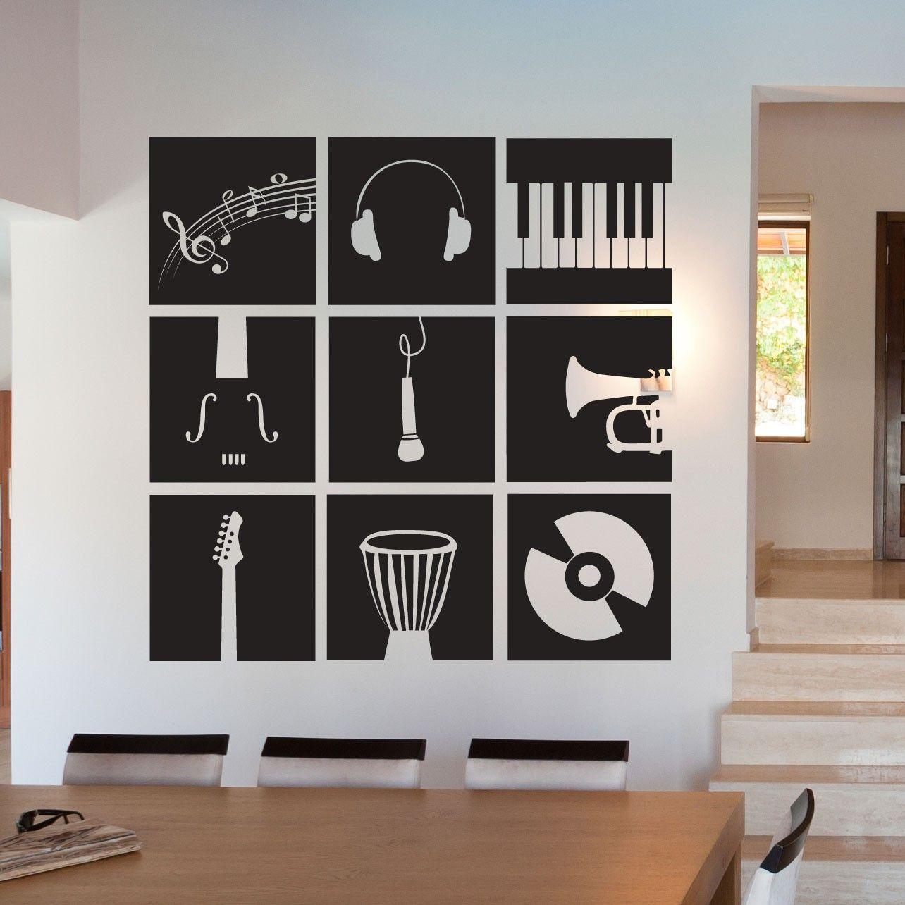 Music Instruments Stencil Music Room Decor Music Bedroom Music Room Office