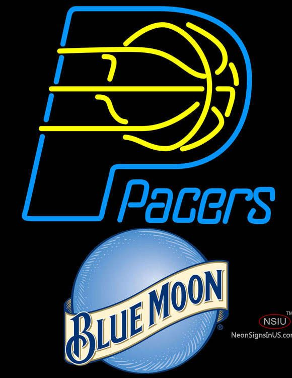 85c19d4747 Blue Moon Indiana Pacers NBA Real Neon Glass Tube Neon Sign ...