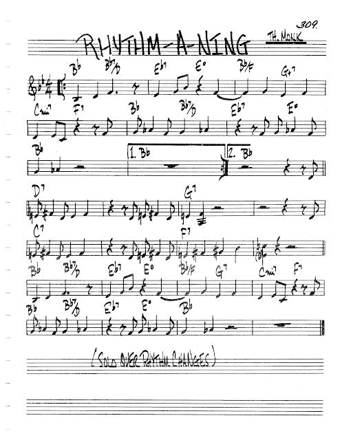 Jazz Real Book Ii Page 309 Rhythm A Ning Thelonious Monk Jazz Standard Sheet Music Jazz Standard Sheet Music Jazz Sheet Music