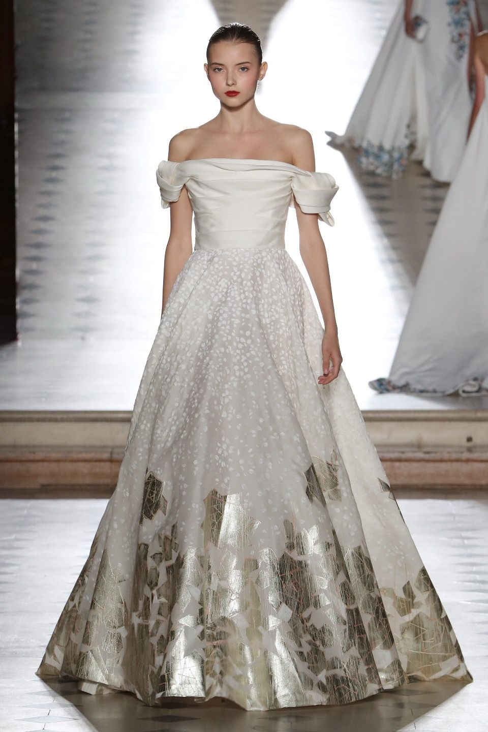 Metallic wedding dress  Tony Ward Fall  Couture Fabulous gown fit for a queen I love