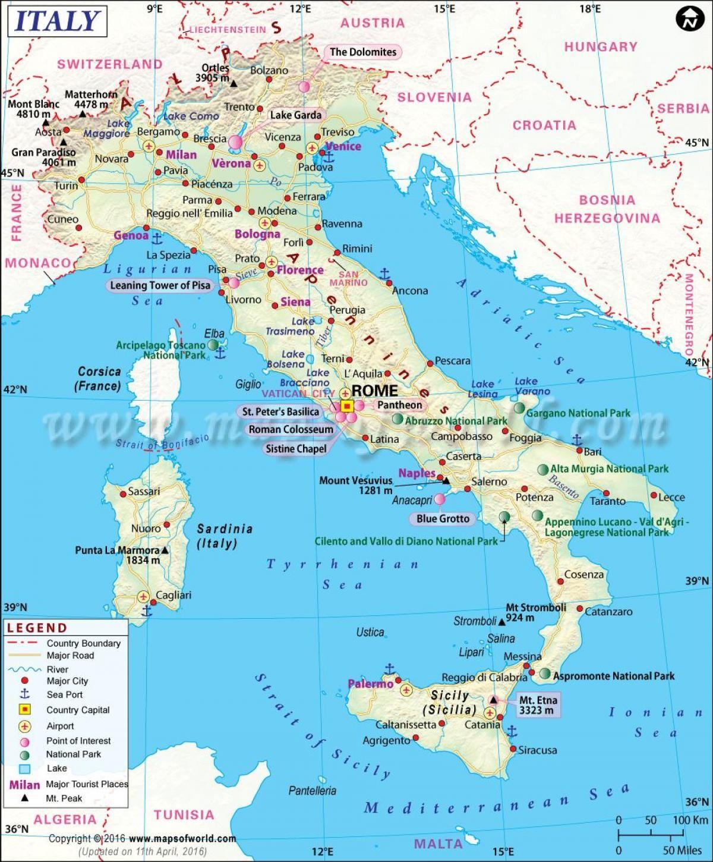Carte De L Italie Du Nord : carte, italie, Carte, Villes, L'Italie, Italie,, Italie