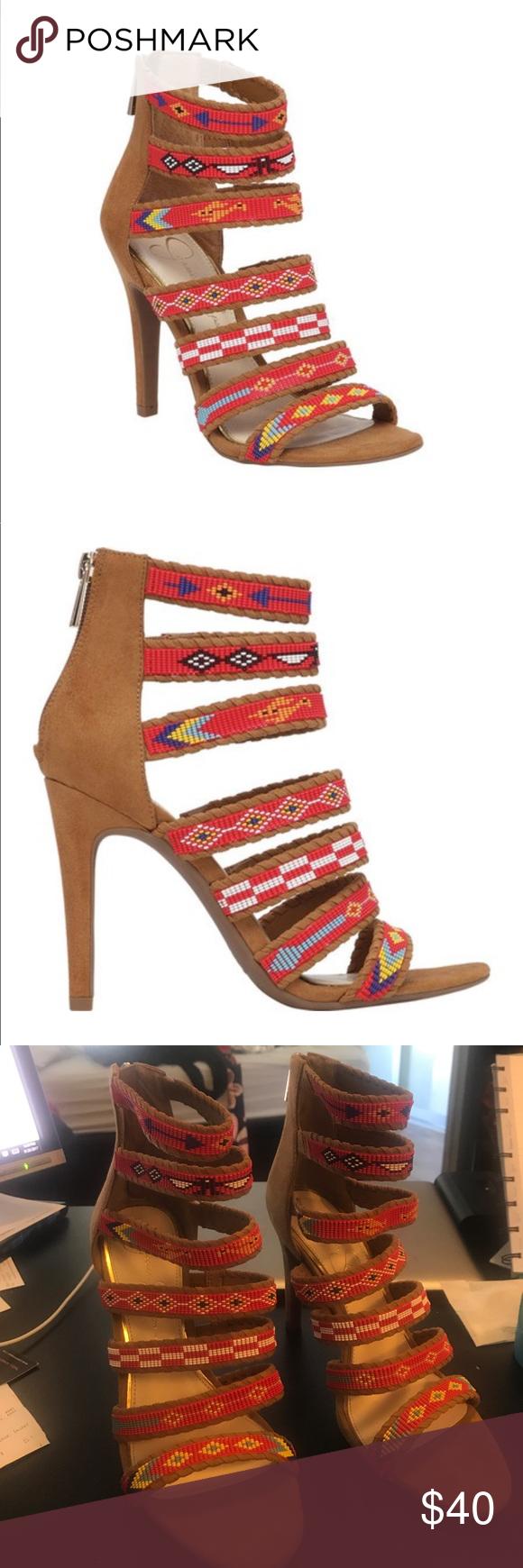 Jessica Simpson Etienne Sandals Nwot Jessica Simpson Shoes Heels Strappy Sandals Rubber Bead