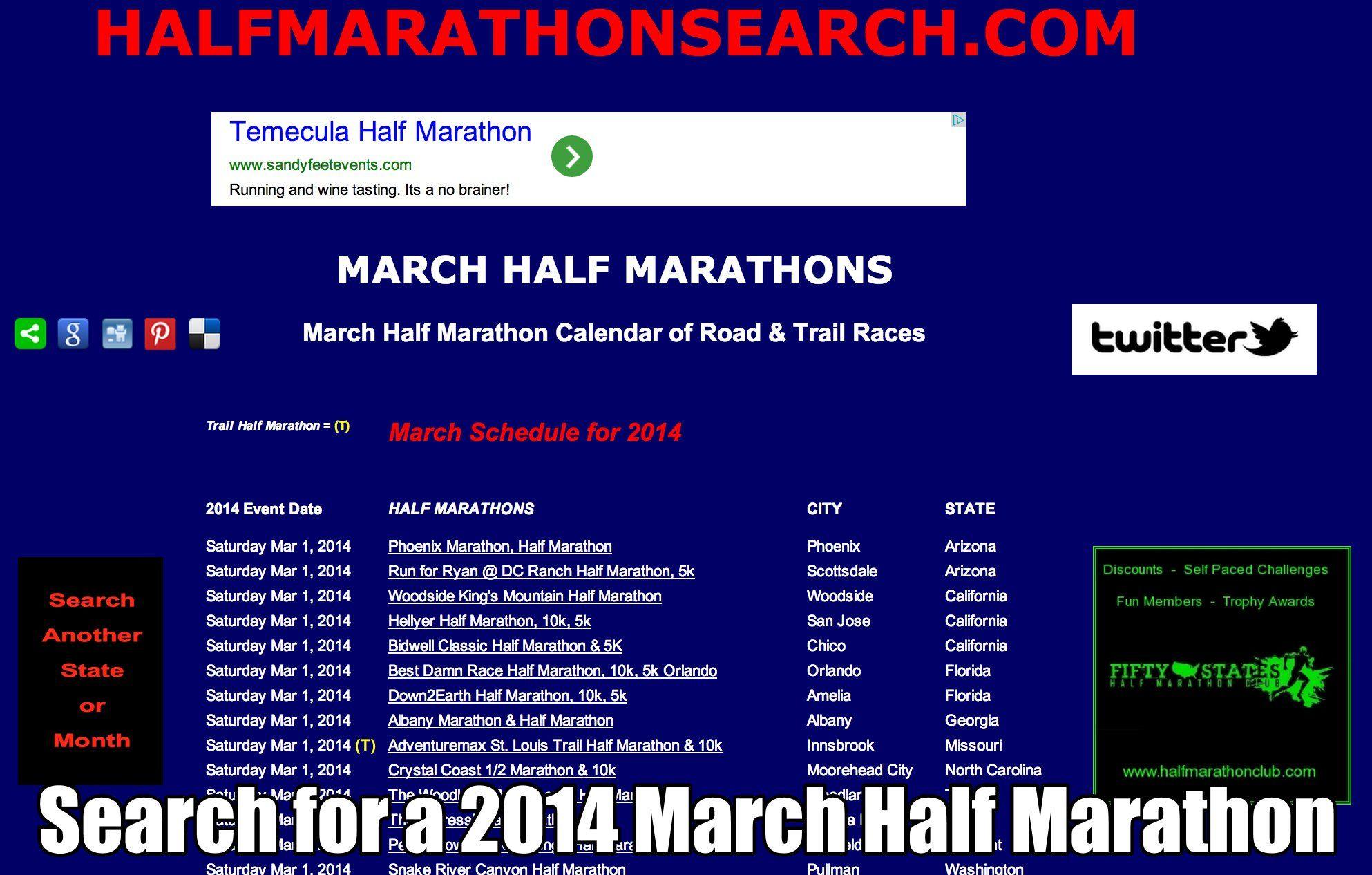 Trail Race Calendar 2022.Pin On Half Marathon Half Marathons