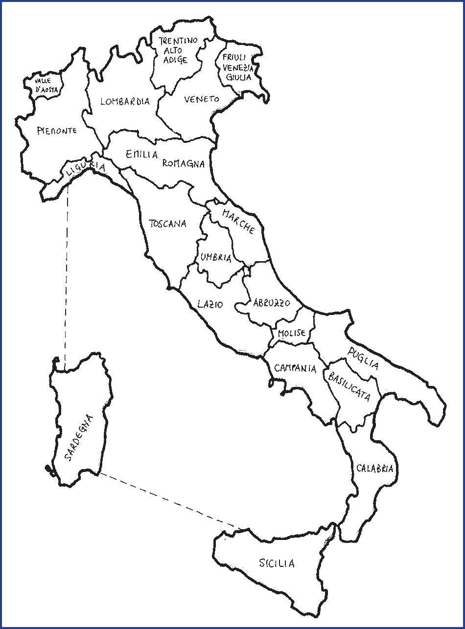 Cartina Italia Da Colorare  Pieterduisenberg