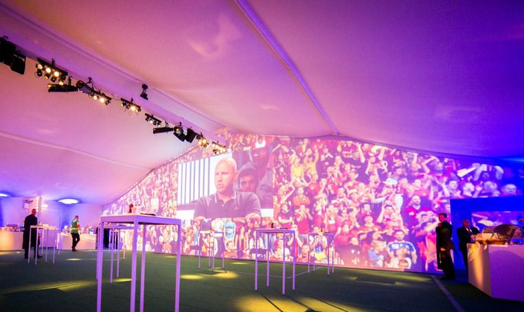 #Profirst Designed and constructed the reception area for the VIP guests during the Belgacom Memorial Van Damme