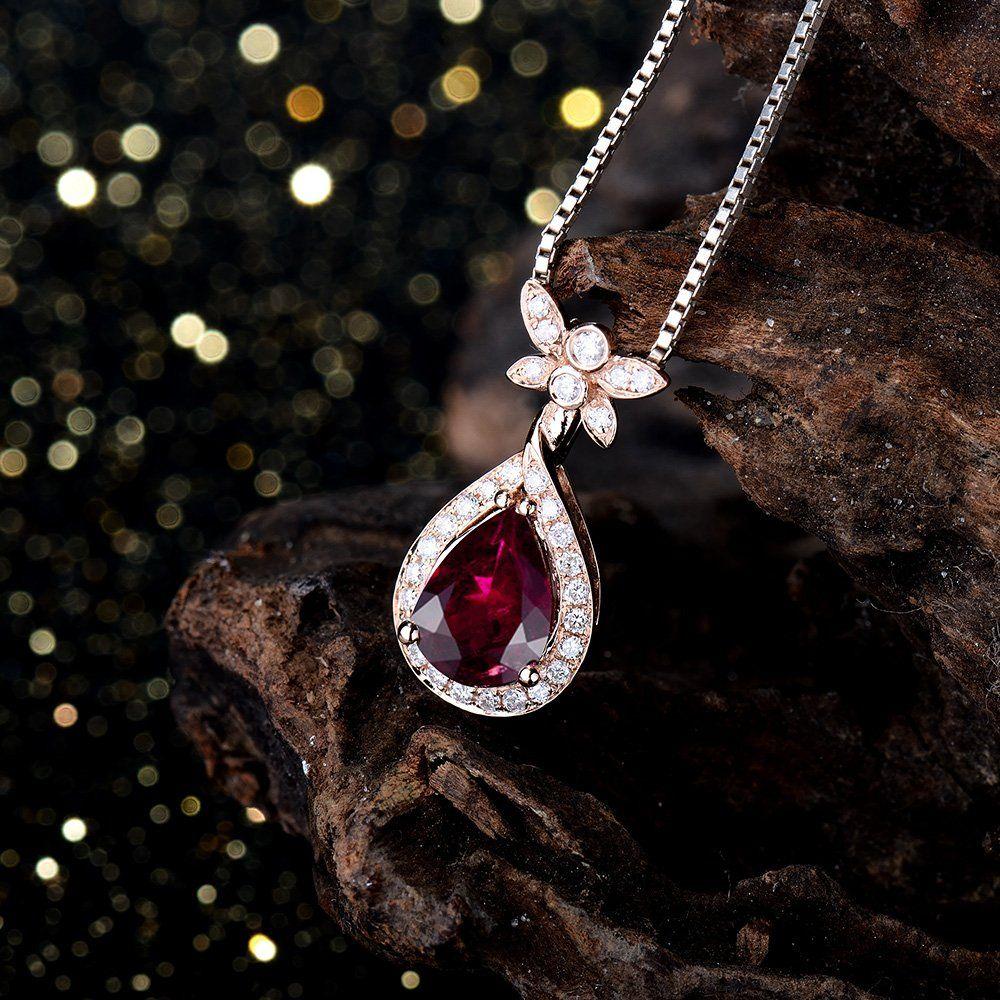 Fashion jewelry pink tourmaline gemstone diamond 14k rose gold fashion jewelry pink tourmaline gemstone diamond 14k rose gold pendant for women clothing aloadofball Image collections