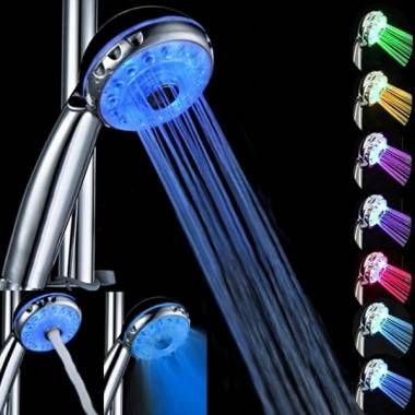Magic Automatic 7 Color Water Led Lights Shower Head Bathroom From Home And Garden On Banggood Com In 2020 Led Shower Head Shower Heads Led Lights