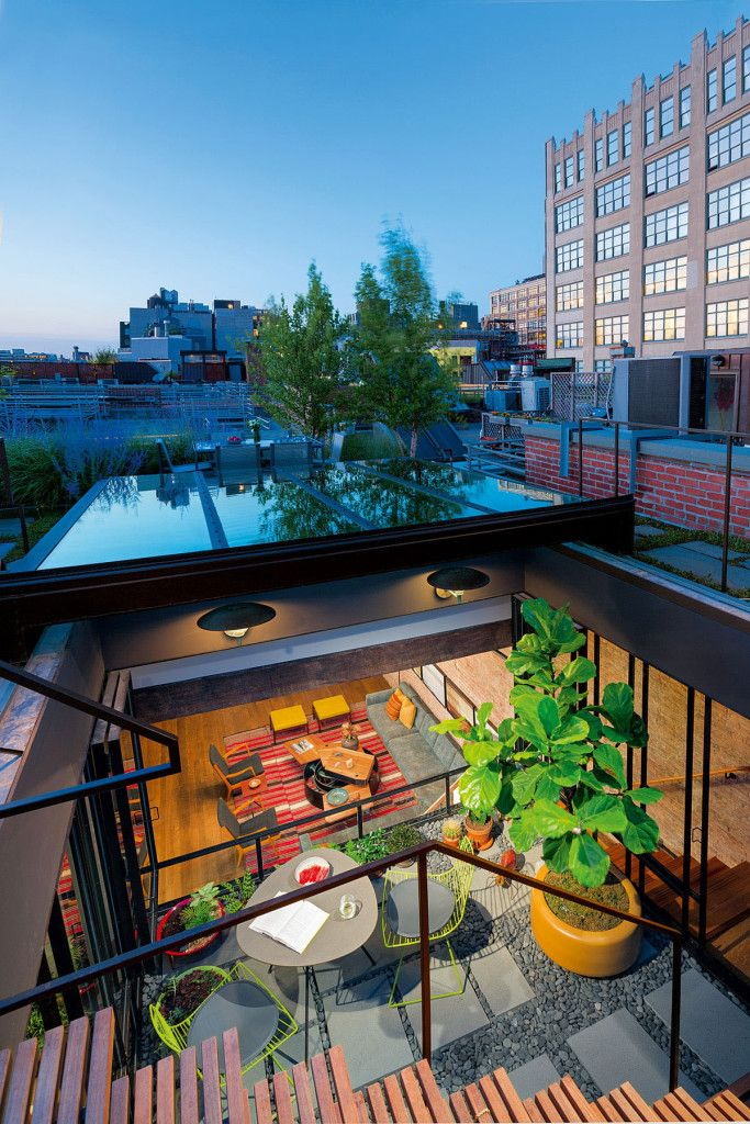 Chic New York City Loft with Roof Garden Terrace Loft