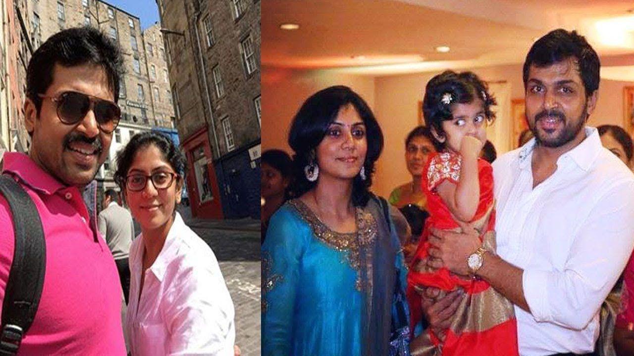 Actor Karthi Sivakumar Family Photos with Wife Ranjini and ...  Actor Karthi Daughter Umayaal Photos
