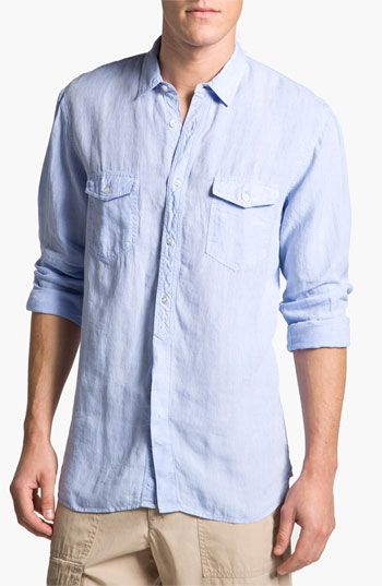 Toscano Chambray Linen Sport Shirt, $89.50 Nordstroms | My ...