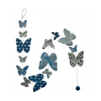 Photo of Ghirlanda di Lamali di carta BØDO-Blue Lokta Butterfly