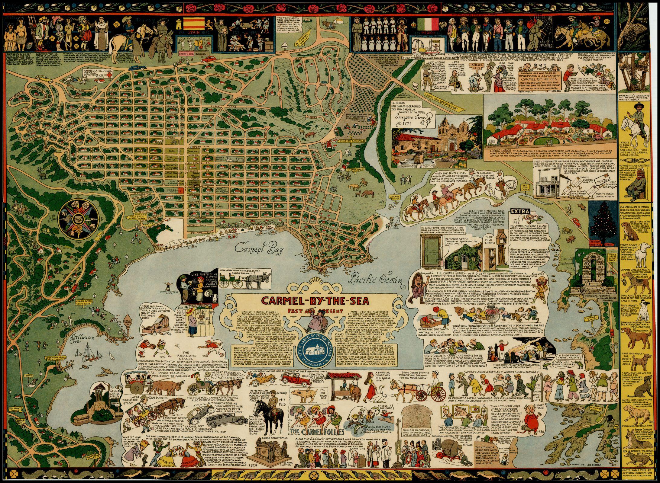 Jo Mora Carmel By The Sea Maps Pinterest - Jo mora los angeles map