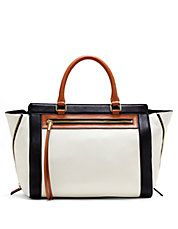 Siena Leather Colorblock Satchel
