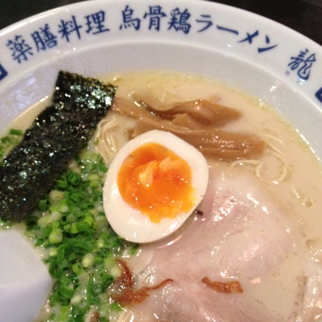 Miso with a bit of Pork, Nori and a lovely gooey egg on top