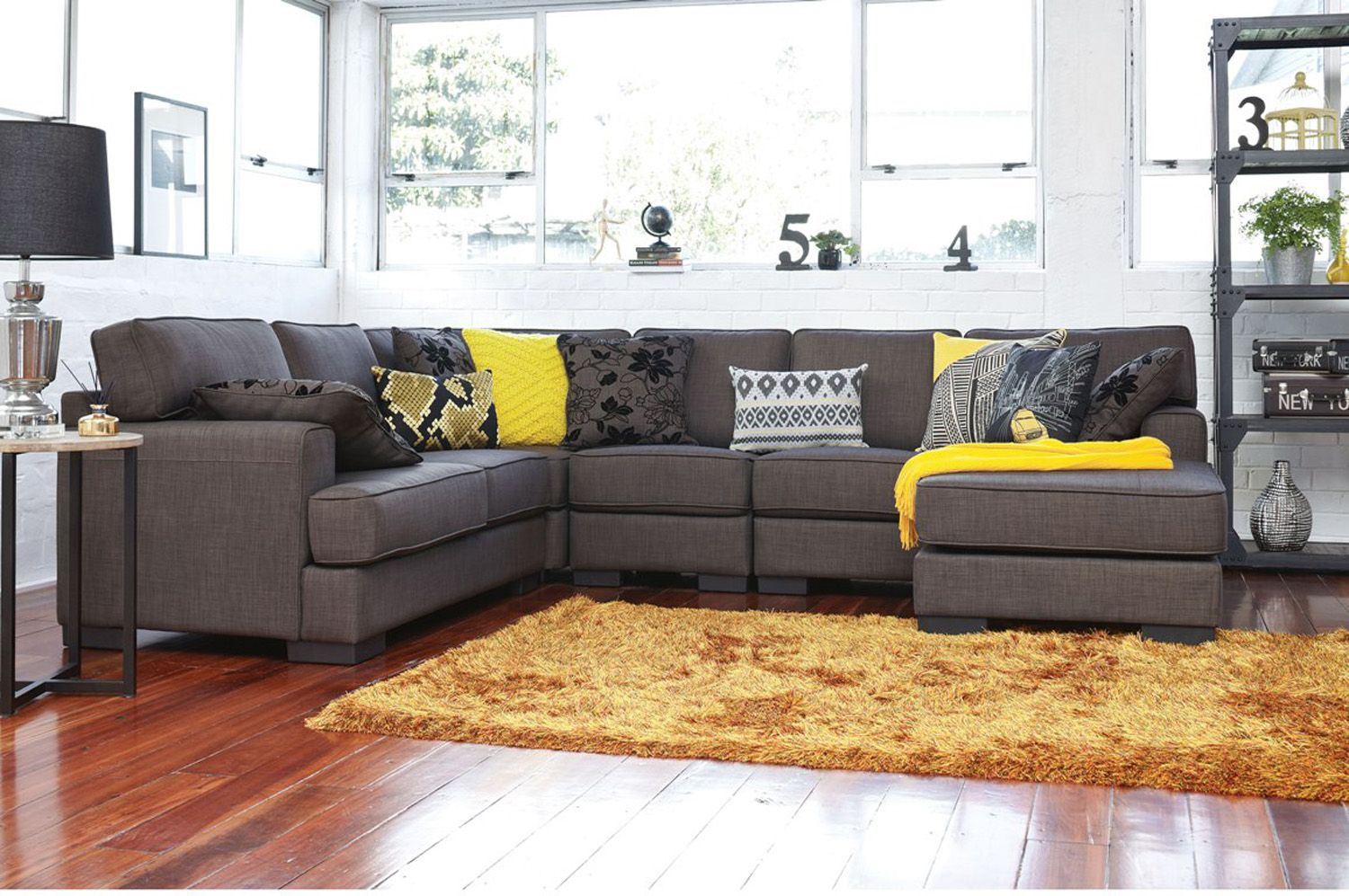 Harvey Norman - Slate 6 Seat Corner Chaise Lounge- this would be perfect! : harvey norman chaise - Sectionals, Sofas & Couches